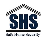 Safe home securities, SHS logo, Security company logo,
